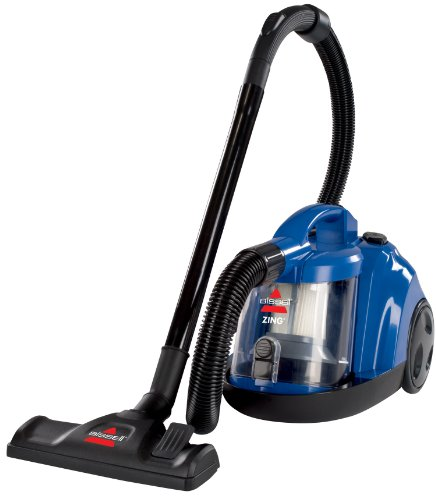 BISSELL Zing Rewind Bagless Canister Vacuum, Caribbean Blue - Corded (Canister Vacuums For Carpets compare prices)