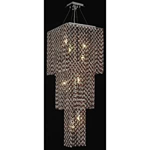 Moda 9 Light Large Pendant in Chrome Crystal Color / Crystal Trim: 63