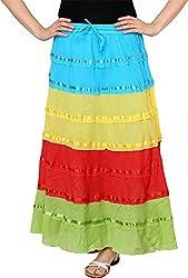 Rvestir Women's Cotton Skirt (OM160)