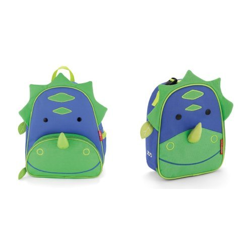 Skip Hop Zoo Backpack and Lunchie Set, Dinosaur - 1