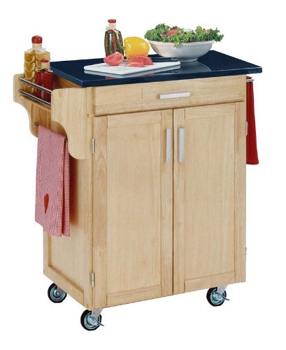 Cheap Home Styles Small Kitchen Cart With Granite Top – Black/Natural – 9001-0014 (VF_HY-9001-0014)
