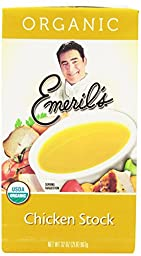 Emeril\'s Flavored Stock, Organic Chicken, 32 Ounce (Pack of 6)
