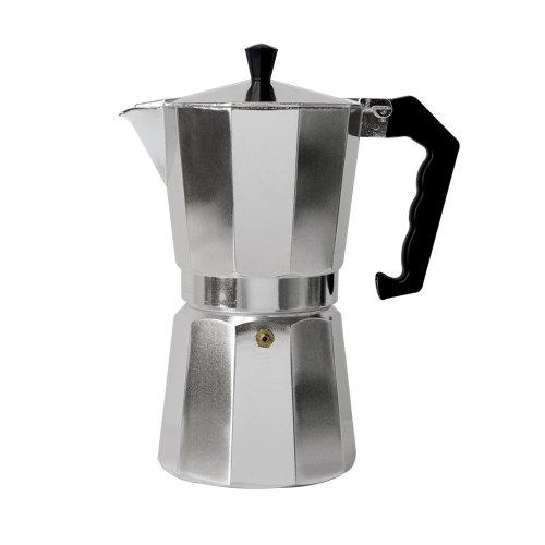 Primula Aluminum Espresso Maker - Aluminum - For Bold, Full Body Espresso - Easy to Use - Makes 9 Cups