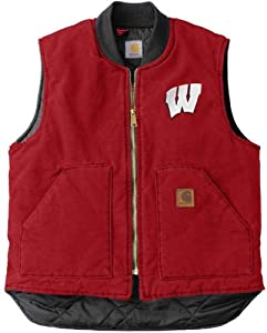 NCAA Wisconsin Badgers Mens Sandstone Vest by Carhartt