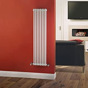 Milano Windsor - Traditional 8 x 2 Column Radiator Cast Iron Style White 1500mm x 383mm - Luxury Victorian Central Heating Designer Radiators - Fixing Brackets included - 15 YEAR GUARANTEE!
