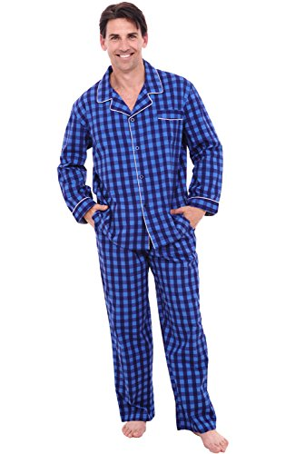 Del Rossa Men's Cotton Pajamas, Long Woven Pj Set