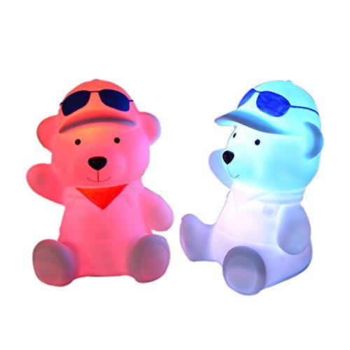 AWETEK ®Colour Changing Led Mini Night Light Bear Shape Design for Home Use, Decoration, Nursery Light Baby's Night Light - 1