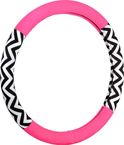 Bell Automotive 22-1-97179-9 Chevron Color Block Pink Hyper-Flex Core Steering Wheel Cover (Steering Wheel Cover Pattern compare prices)