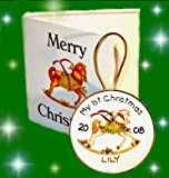 Personalised My First Christmas Keepsake The decoration in a card! Baby Boy or baby girl keepsake gift