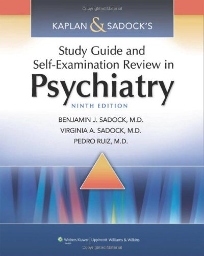 Kaplan & Sadock'S Study Guide And Self-Examination Review In Psychiatry (Study Guide/Self Exam Rev/ Synopsis Of Psychiatry (Kaplans)) front-964330