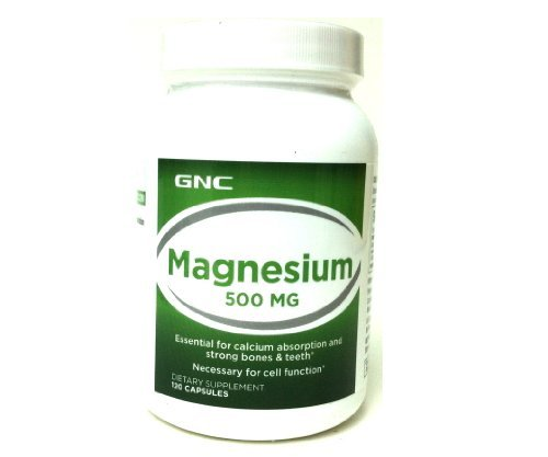 Gnc Magnesium 500, Capsules, 120 Ea Single & Multi Packs (Two Bottles Each Of 120 Capsules)