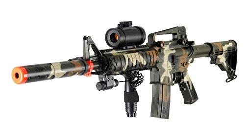 Heavy M4 M16 Replica Airsoft Gun Double Eagle M83 A2 Full Automatic Electric Rifle Gun (Camo)