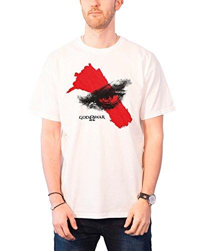 Officially Licensed Merchandise God Of War - Eye T-Shirt (White), Large