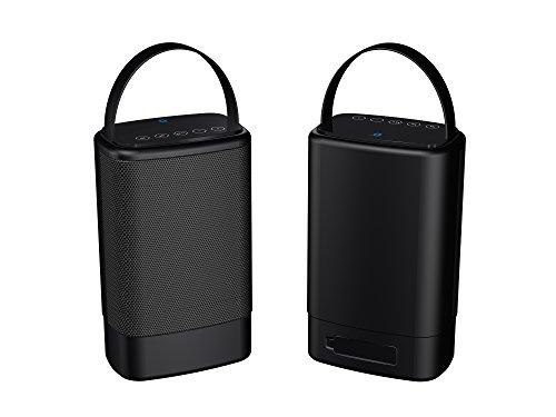 Sylvania Portable Outdoor Dual Bluetooth Speakers-Set of 2 Speakers, SP096-Black