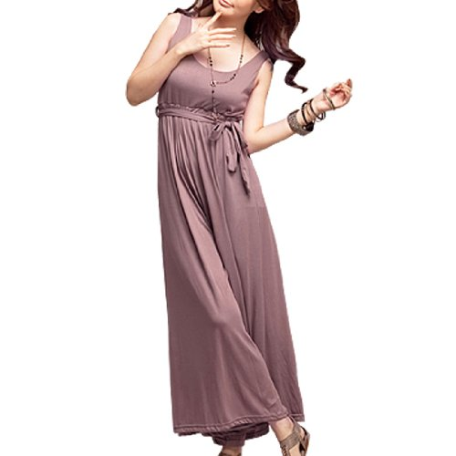 4cf067aee0a Allegra K Rosybrown S Wide Leg Overall Romper Jumpsuit for Woman ...