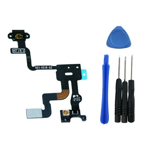 Iphone 4S Light Proximity Sensor Power On Off Button Switch Flex Cable Assembly Replacement Part front-55051
