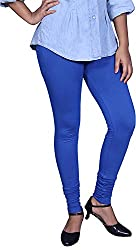 Unicraft Women's Cotton & Lycra Leggings (unicraft-026Blue)