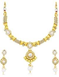 Sukkhi Lavish Gold Plated Choker Necklace Set For Women