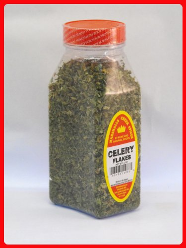 CELERY FLAKES FRESHLY PACKED IN LARGE JARS, spices, herbs, seasoning