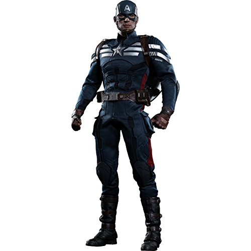 Hot Toys Movie Masterpiece Captain America / Winter Soldier Captain America 1/6 scale plastic painted action figure