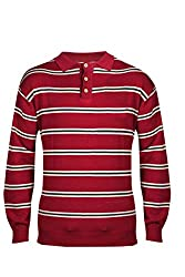 UV&W Full Sleeve Button Front Men's Rumba Red Sweater