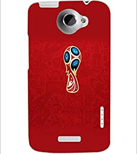 PrintDhaba Pattern D-1170 Back Case Cover for HTC ONE X (Multi-Coloured)