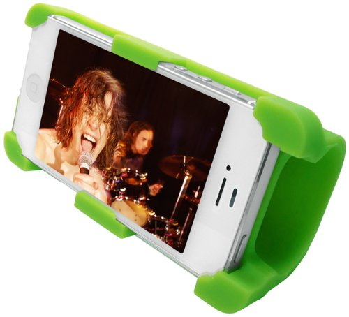 Datexx Instage Iphone Silicone Stand And Acoustic Amplifier For Iphone 4/4S, Green - Speakers - Retail Packaging - Green