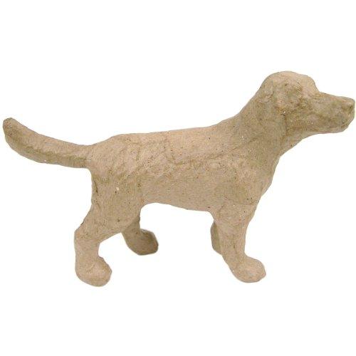 """Paper Mache Figurine 4.5""""-Dog"""