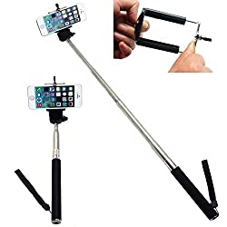 New Design Leapcama Self Portrait Monopod Selfie Stick With Phone Holder For Samsung iPhone Blackberry (black monopod)