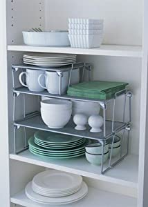 1 x Small Mesh Stacking Storage Shelf