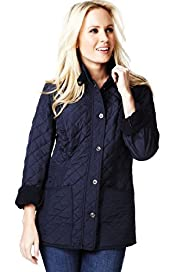 Petite Funnel Neck Quilted Jacket
