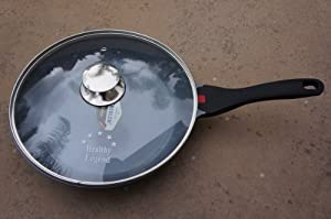 """New Healthy Legend 11.2"""" (28cm) Fry Pan with Non-stick German Weilburger Ceramic Coating - Temperature Indicator, Induction Ready, ECO Friendly Non-toxic Cookware"""