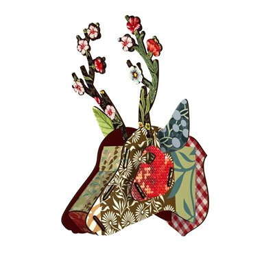 Flower Blow-Up Stag Head Object (Medium)||RNWIT