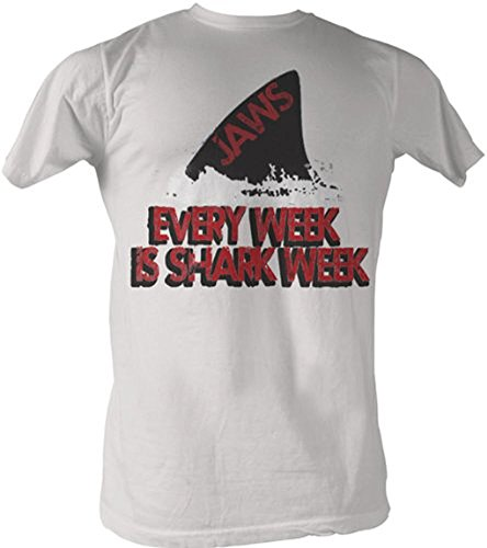 Jaws Every Week Is Shark Week Vintage White T-Shirt Tee X-Large front-20112