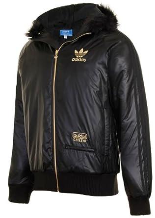 Amazon.com: Adidas Originals Mens M Chile 62 Nylon Black Hooded Bomber