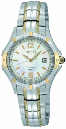 Seiko Women's SXDC92 Quartz Stainless Steel Mother-Of-Pearl Dial Watch
