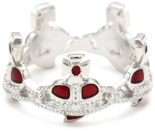 Vivienne Westwood Nano Heart Crown Ring, Size 7