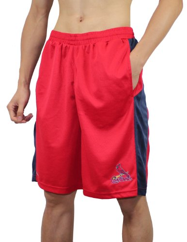 MLB St. Louis Cardinals Mens Shorts with Embroidered Logo L Red at Amazon.com