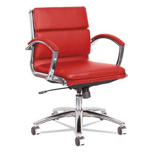 alera-neratoli-low-back-slim-profile-chair-red-soft-leather-chrome-frame