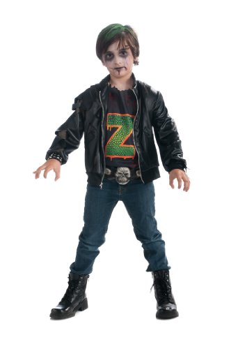 [Boy's Zombie Punk Rocker #3 Costume, Medium] (Punk Rocker Costumes For Kids)