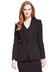 M&S Collection Peak Lapel 1 Button Angle Seam Jacket