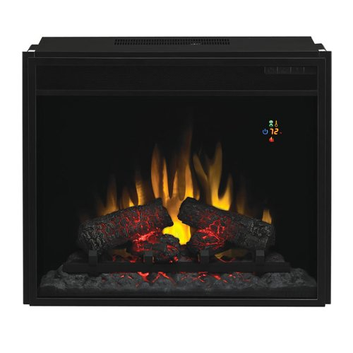 Fixed Front 23 in. Fireplace Insert w Backlit Display & Remote