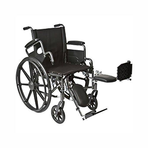 Roscoe Medical K41816Dhfbel K4-Lite Wheelchair Flip Back, Desk-Length Arms And Elevating Legrests Powder-Coated Silver Vein Steel