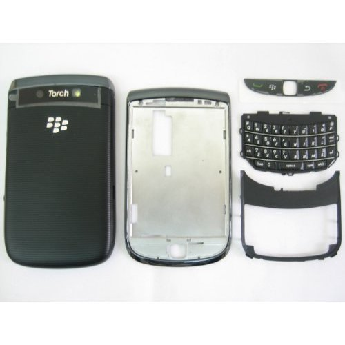 Black Housing Cover Door Case Frame Fascia Plate for Blackberry Torch 9800 ~ Mobile Phone Repair Parts Replacement