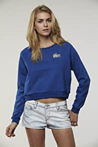 L!VE Long Sleeve Cropped Beaded Croc Sweatshirt