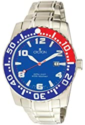 Croton CA301048SSBL Men's Stainless Steel Blue Dial Dive Watch