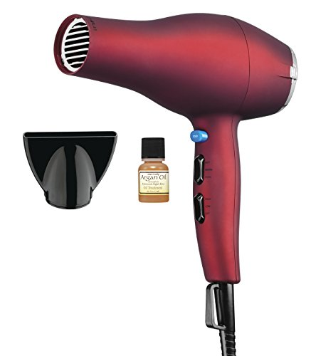 Infiniti Pro by Conair 1875 Watt Full Size Salon Performance AC Motor Styling Tool and Hair Dryer, Soft Touch Red (Conair Infiniti 1875 compare prices)
