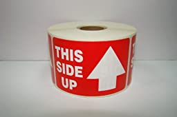 2 Rolls of 1000 labels each of 2x3 ARROW This Side up Shipping Mailing Labels Stickers