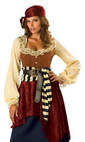 InCharacter Costumes Women's Buccaneer Beauty, Tan/Burgundy, X-Large