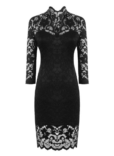 PAKULA Women's Fashion Sexy Lace V Neck Cocktail Party Dresses